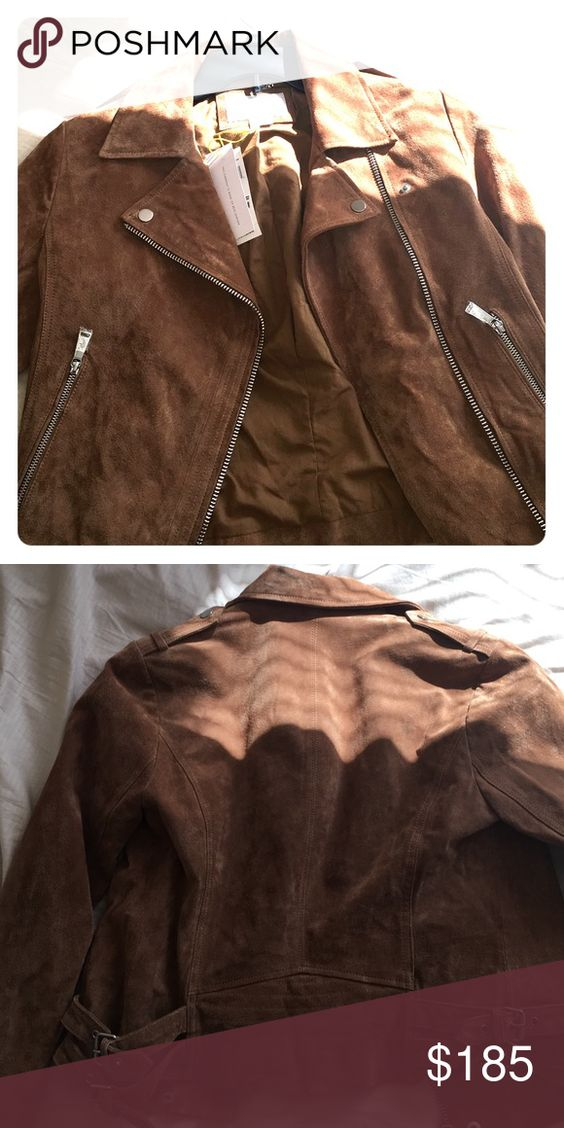 Camel Moto suede jacket. 100% leather Camel Moto suede jacke. New never used and in great condition. BCBGeneration Jackets & Coats