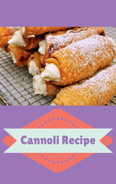 Classic Cannoli recipe in a home kitchen. http://www.… | Pinteres ...
