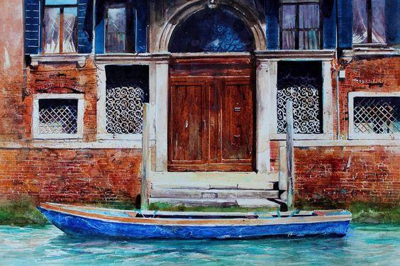 British watercolor artist David Poxon