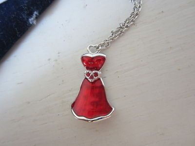 "Red dress necklace by Swarovski. My own little ""Lady in red"" <3"