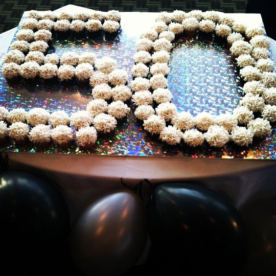 Mother's 50th Birthday Party-  hydrangea cupcakes