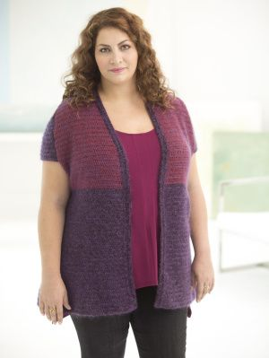Image of Curvy Girl Two-Tone Vest
