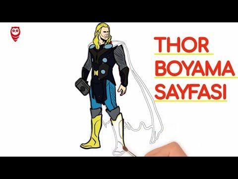 Thor Ve Mjolnir Cekic Boyama Ve Cizim Sayfasi Cocuklar Icin Nasil