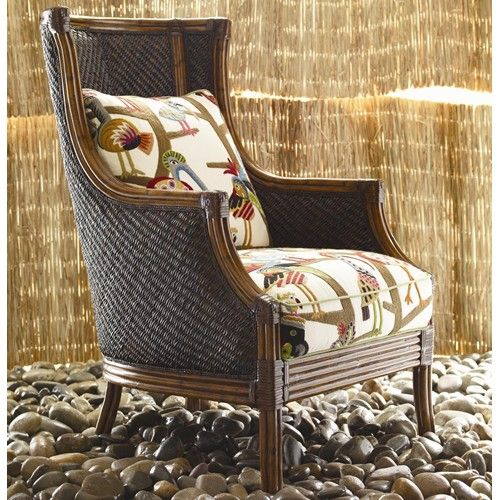 Island Estate Rum Beach Wicker Chair By Tommy Bahama Home