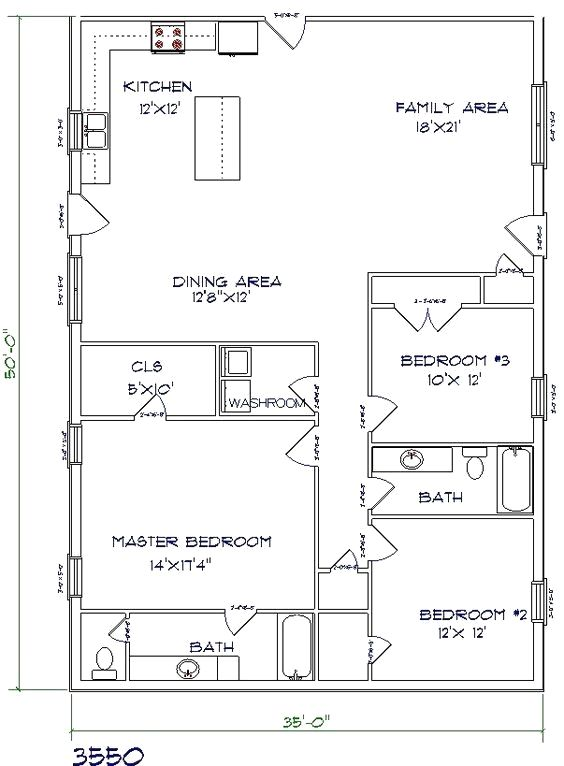 Pin By Caleb Beebe On Metal Building Homes Pole Barn House Plans Barndominium Floor Plans Barn House Plans