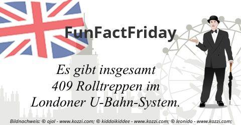 #FunFactFriday bei THE BRITISH SHOP: Es gibt insgesamt 409 Rolltreppen im Londoner U-Bahn-System.