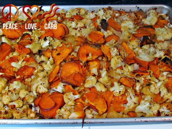 Roasted Cauliflower and Sweet Potato Puree – Low Carb, Gluten Free