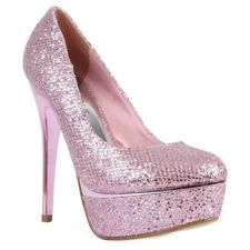 Pink, Sparkly high heels and Love on Pinterest