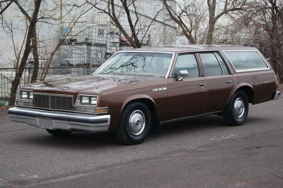 "Even a base model full size Buick wagon had a V-8 powerplant in the 70s. 1977 Buick ""Estate"" wagon, the base ""LeSabre"" version of the wagon lineup. No woodgrain applique for these babies, or hood ornament, for that matter."