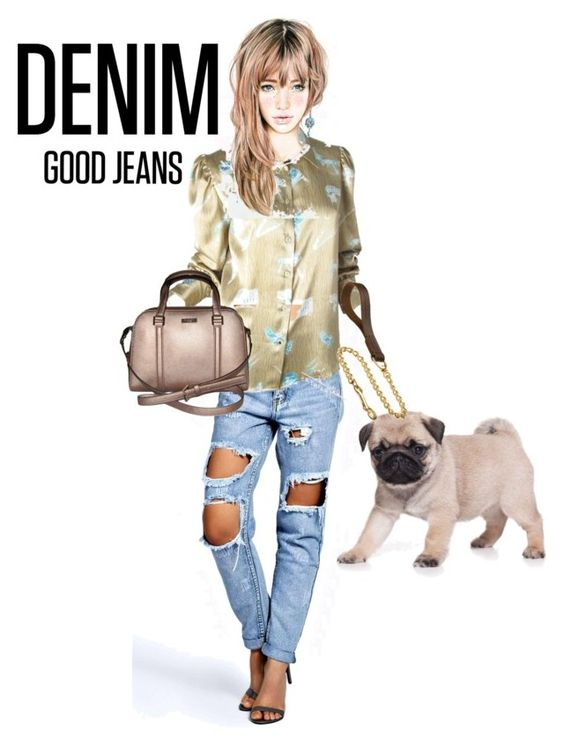 """""""A walk in the park!"""" by stormi3 ❤ liked on Polyvore featuring Boohoo, Fendi, Kate Spade, women's clothing, women, female, woman, misses, juniors and distresseddenim"""