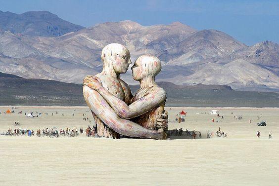 """""""Embrace""""   Matt Schultz   Burning Man 2014"""