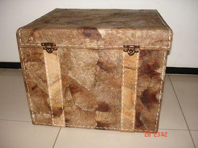 AURIZZE: Baú de caixa de papelão com filtros de café