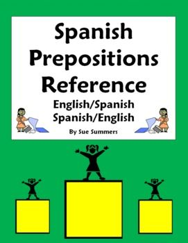spanish prepositions of location vocabulary reference and estar spanish the words and words. Black Bedroom Furniture Sets. Home Design Ideas
