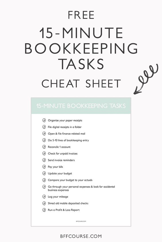 Virtual Bookkeeping Checklist The Basics for Small Businesses - bookkeeper job description