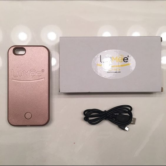 lumee iphone 6s 6 selfie light case rose gold power this Mini