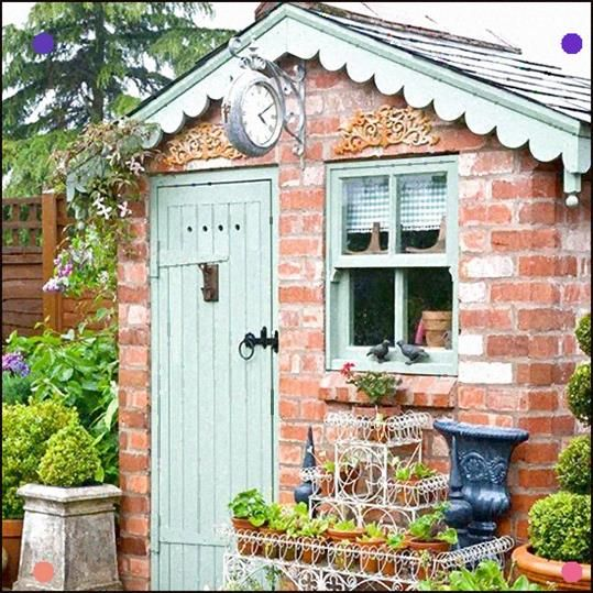 Best Garden Shed Ideas Garden Cute And A Great Way To Re Use Old Windows In 2020 Cottage Garden Garden Shed Cottage Garden Plants