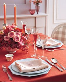 Martha Stewart gives Valentine's Day menu suggestions :)
