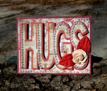 Handmade All Occasion Three Dimensional HUGS Card Victorian Style by TheCardCabin