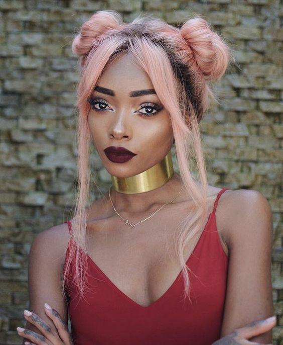 Pin By K Jones On Hair Hair Color For Dark Skin Hair Color For Dark Skin Tone Cool Hair Color