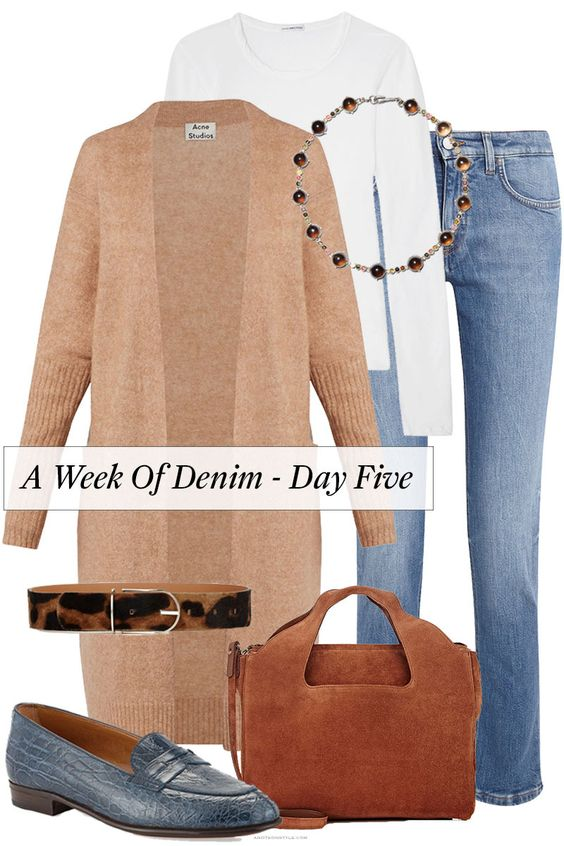 A Week Of Denim - Day Five http://anoteonstyle.com/a-week-of-denim-day-five-2/  Acne Studios | Bottega Veneta | The Row | Gravati | Barneys | James Perse