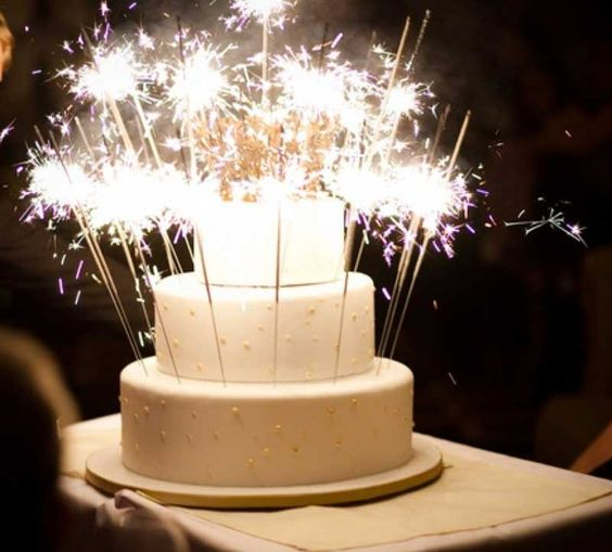 Beautiful sparkler cake!
