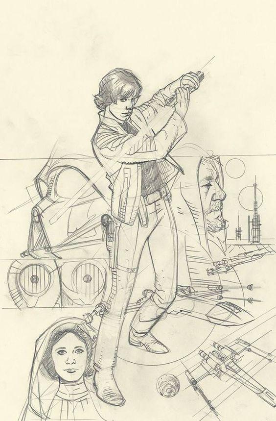 Adam Hughes ( Star Wars: Rebel Heist #4 - Luke Skywalker (WIP) ) *