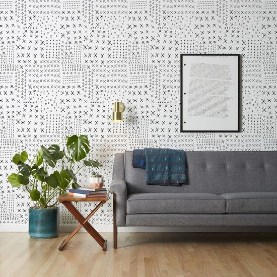 This Eclectic Wallpaper Is The Perfect Modern Boho Addition To