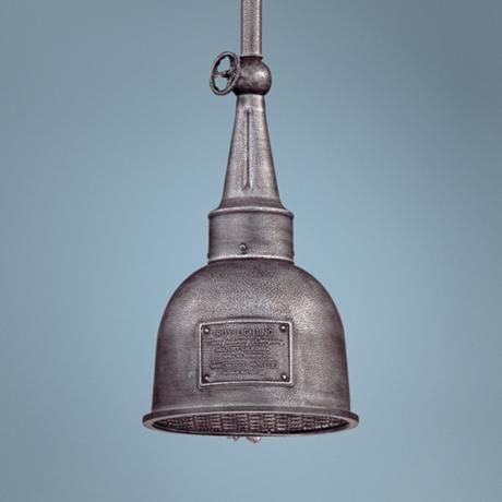 "Raleigh Old Silver 10"" Wide Indoor - Outdoor LED Pendant"
