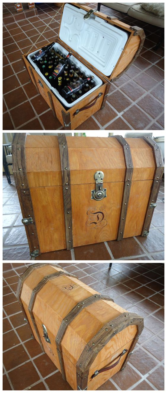 Pirate Chest Beer Cooler #woodworking