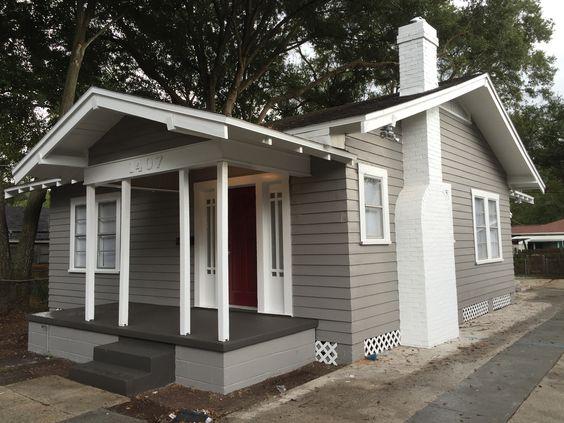 Gray exterior houses and gray exterior houses on pinterest - Sherwin williams dorian gray exterior ...