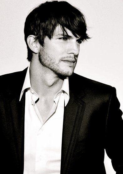 Ashton Kutcher That Adam's apple tho! Mhmm