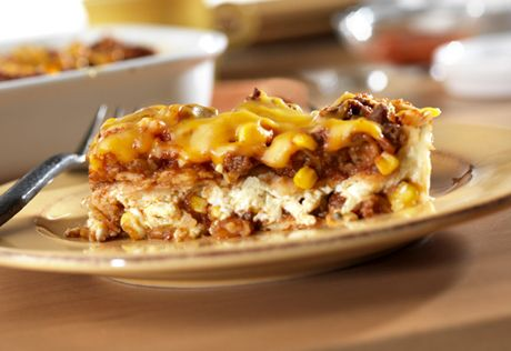 South-of-the-border flavors--picante-seasoned ground beef, corn ...