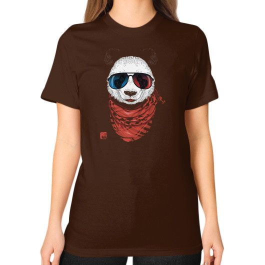 The Happy Adventurer in 3D now ! Unisex T-Shirt (on woman)