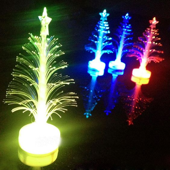 1 pcs Auto Color Changing LED Christmas Tree Lamp Nigh Light Indoor