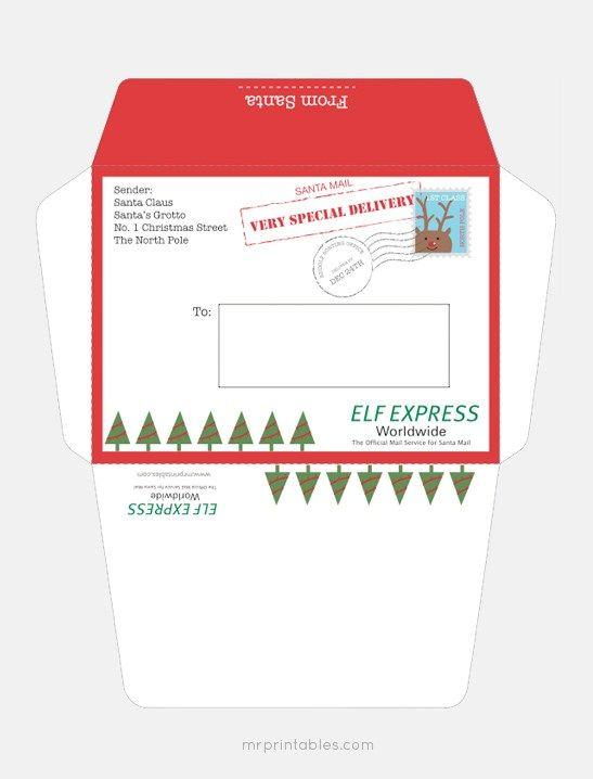 Free Printable Santa Envelopes Free Download Free Printable Envelopes Christmas Envelope Template Santa Letter Template
