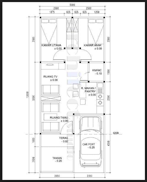 Desain Rumah Minimalis Ukuran 5x12 1 Lantai Arcadia Design Architect Desain Rumah Denah Rumah Desain Rumah Minimalis