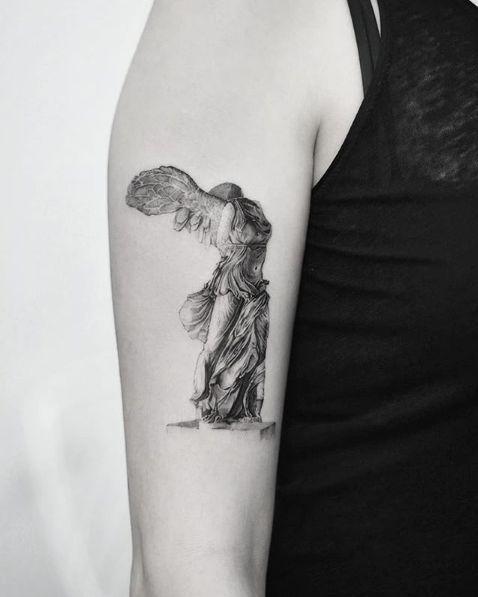 Classical Art Inspired Tattoos In 2020 Art Inspired Tattoos Greek Tattoos Statue Tattoo