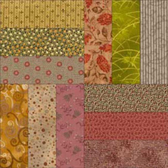 Praça fácil Roman Quilt Pattern - Janet Wickell