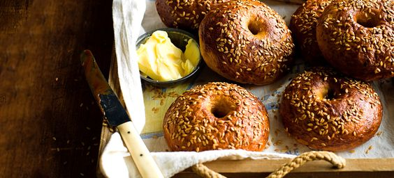 This recipe for Marmite bagels combines two of our favourite breakfast items in one great bake. Smother them in butter or more Marmite, if you can handle it.