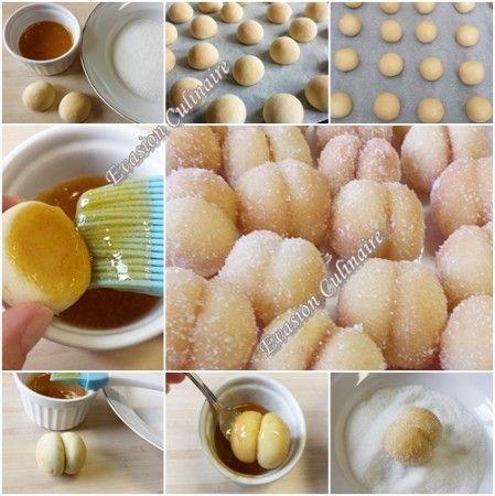 Gâteaux secs algériens en forme d'abricots : les étapes