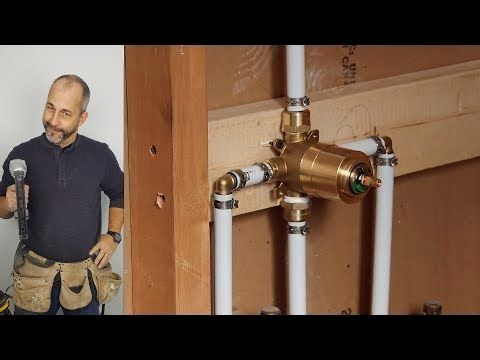 Diy How To Install Copper To Pex Shower And Bath Plumbing Youtube Shower Plumbing Diy Plumbing Shower Installation