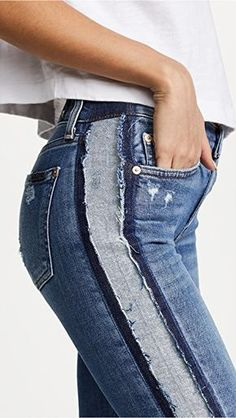 Resultado de imagen de джинсовая куртка с кружевом