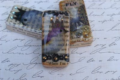 DIY, Domino to Pendant, Tutorial, from Funky Time Art: