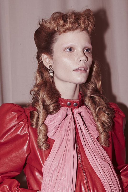 Backstage at the Gucci Women's Spring Summer 2017 Fashion Show: