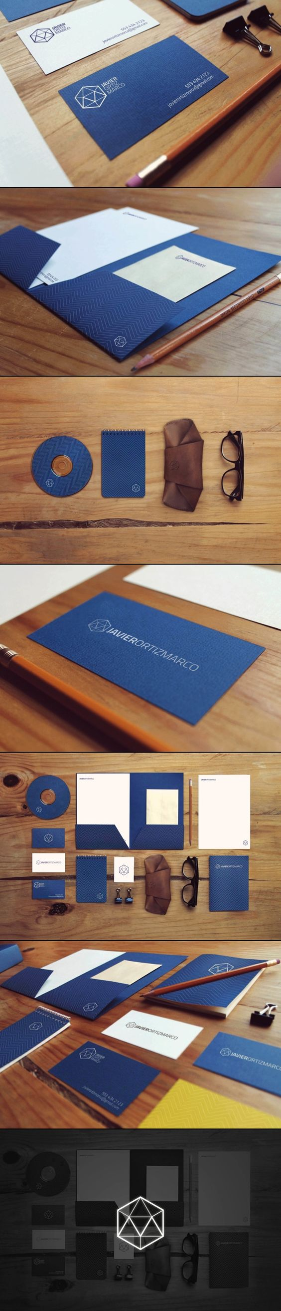 Graphic corporate design stationary business card