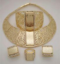 2015 Q & P 18 K chapado en oro nigeriano boda perlas africanas joyería conjunto Crystal arabia saudí conjuntos de joyas pulsera de la…