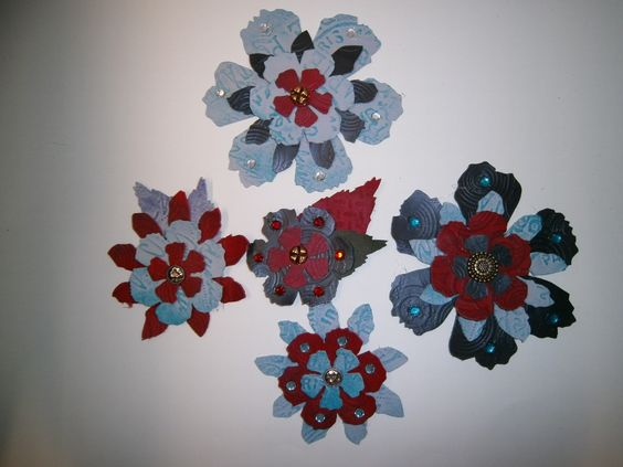 A selection of my leather flowers