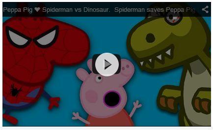 Peppa Pig Peppa Pig ❤ Spiderman vs Dinosaur. Spiderman saves Peppa Pig from Dinosaur https://www.youtube.com/watch?v=W-jFR_SQy60