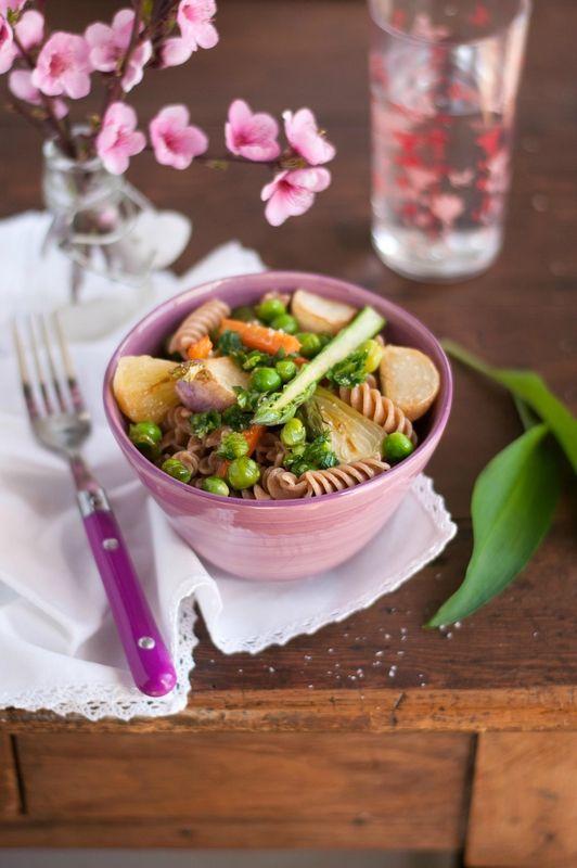 pasta primavera aux légumes croquants 4