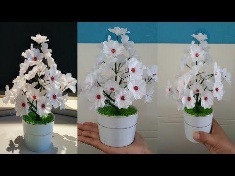 Cara Membuat Bunga Cantik Dari Kantong Plastik Kresek Miniature Beautiful Flowers Youtube Bunga Bunga Kertas Kreatif